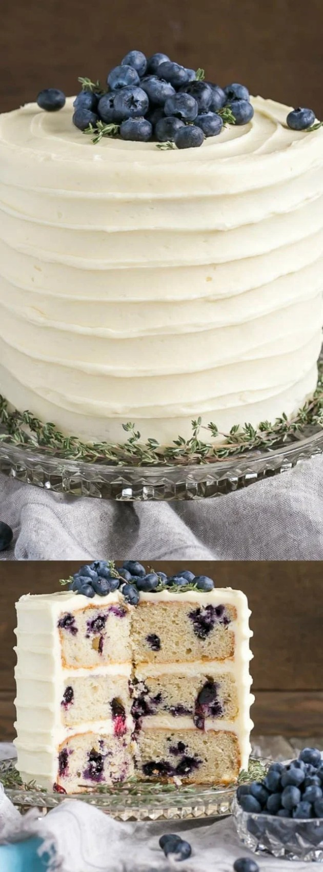 Blueberry Banana Cake with Cream Cheese Frosting longpin