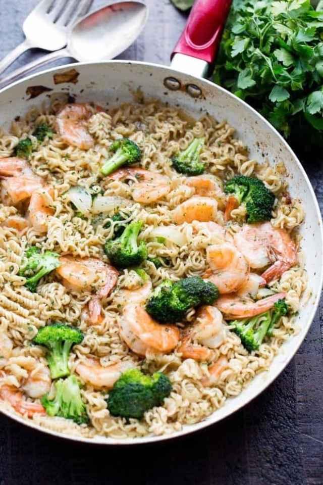 Garlic Shrimp Ramen recipe