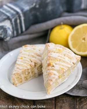 Glazed Lemon Tea Scones