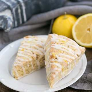 Glazed Lemon Tea Scones