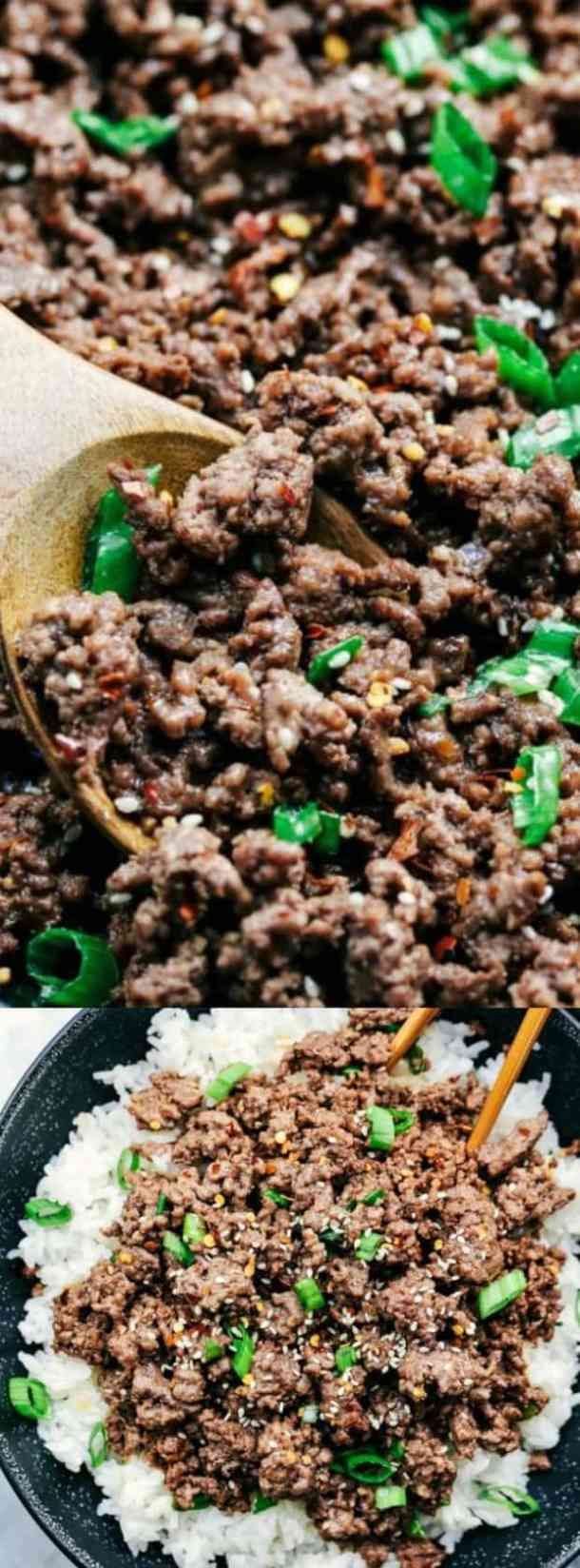 KOREAN GROUND BEEF AND RICE BOWLS