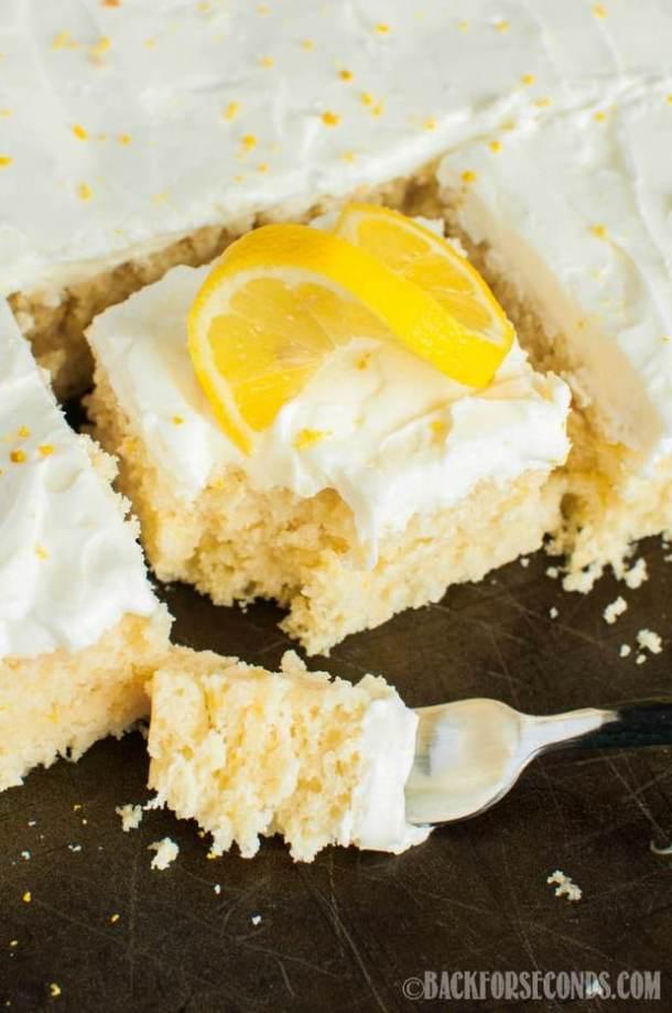 Lemon Sheet Cake with Lemon Cream Cheese Frosting recipe