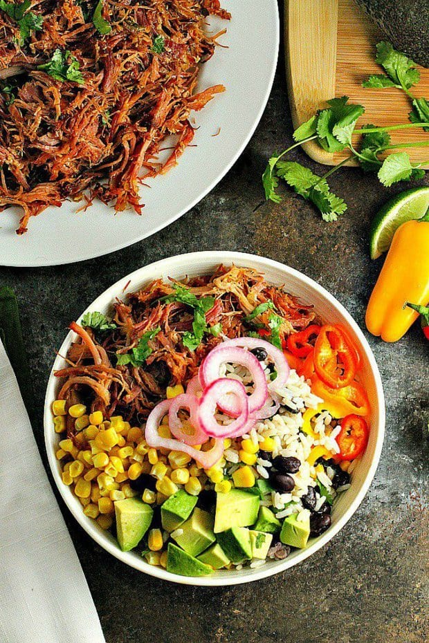Pork Carnitas Burrito Bowl