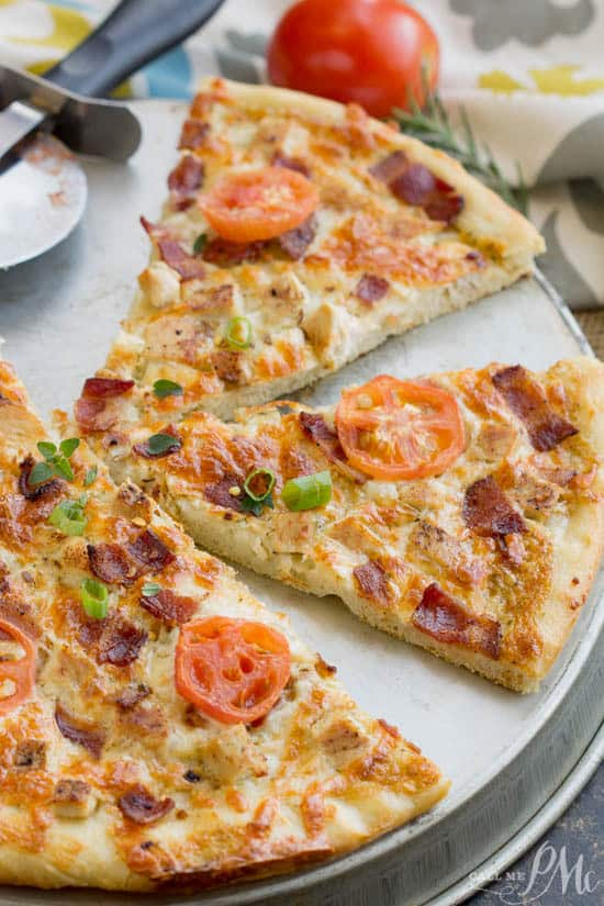 Ranch Sauce Pizza with Chicken and Bacon