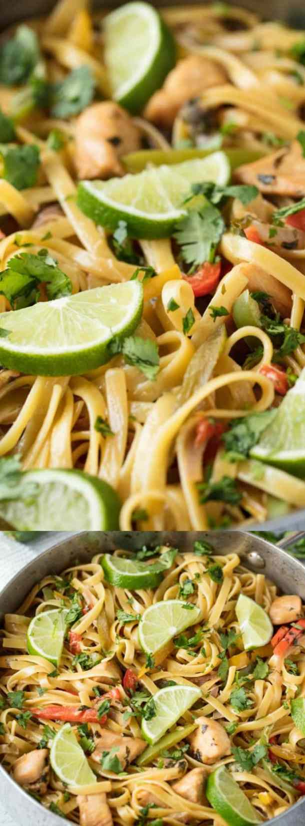 TEQUILA LIME CHICKEN PASTA