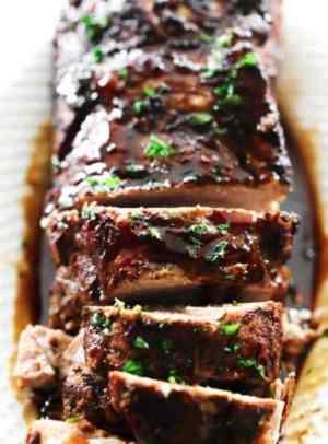 slow cooker balsamic glazed pork tenderloin