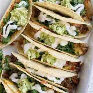 Baked Beef Fajita Tacos