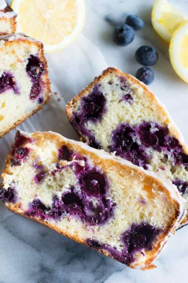 Blueberry Lemon Pound Cake Recipe