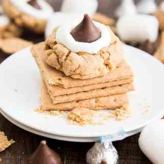 Hershey Kiss Peanut Butter Smores Cookies