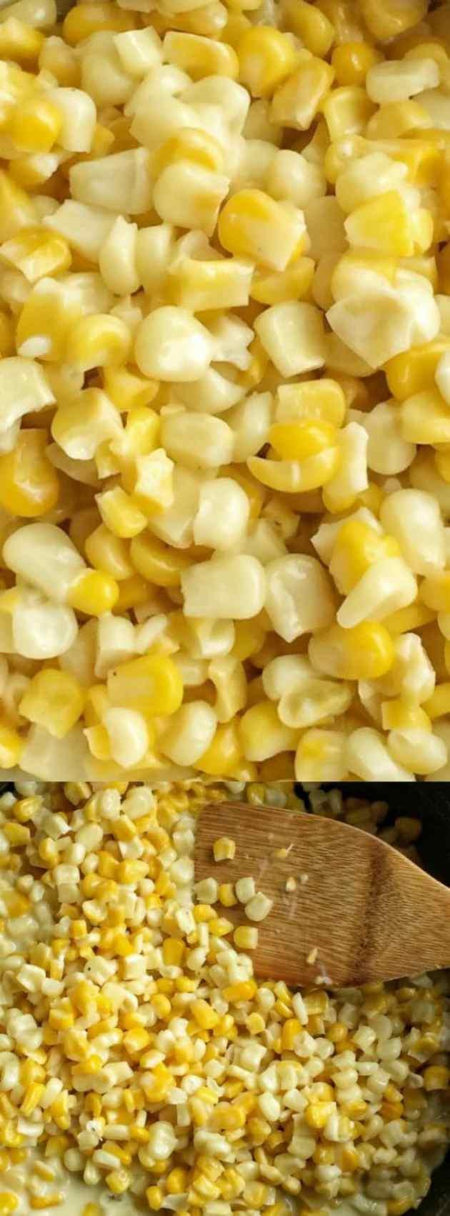 Honey Butter Creamy Skillet Corn Longpin