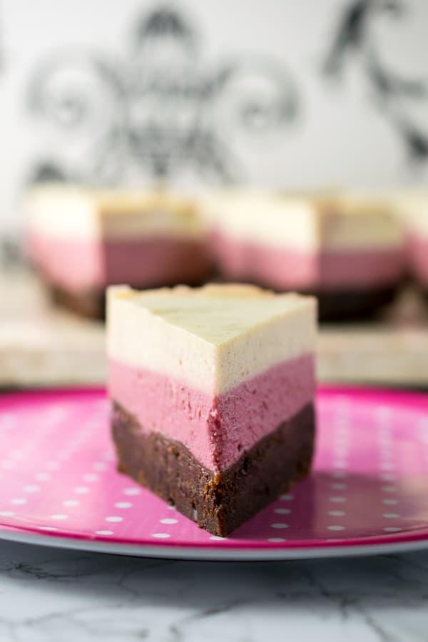 Instant Pot Neapolitan Cheesecake