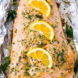 Salmon in Foil with Lemon and Dill
