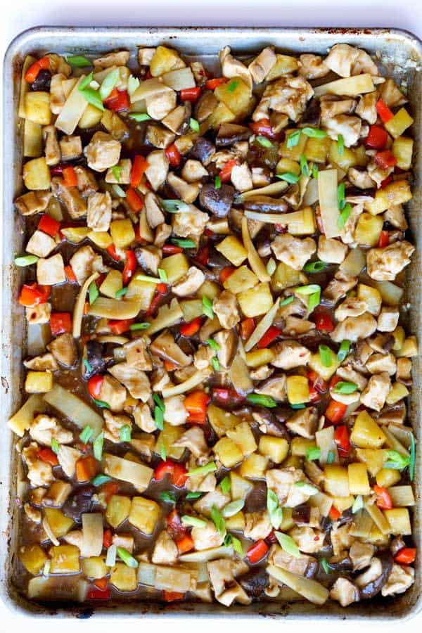 Sheet Pan Stir-Fried Chicken Teriyaki with Pineapple recipe