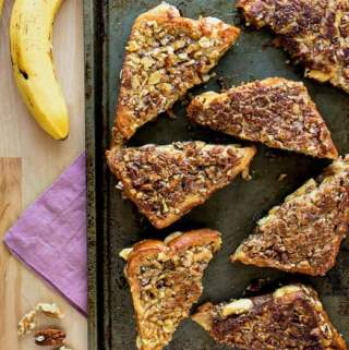 Banana Nut Stuffed French Toast