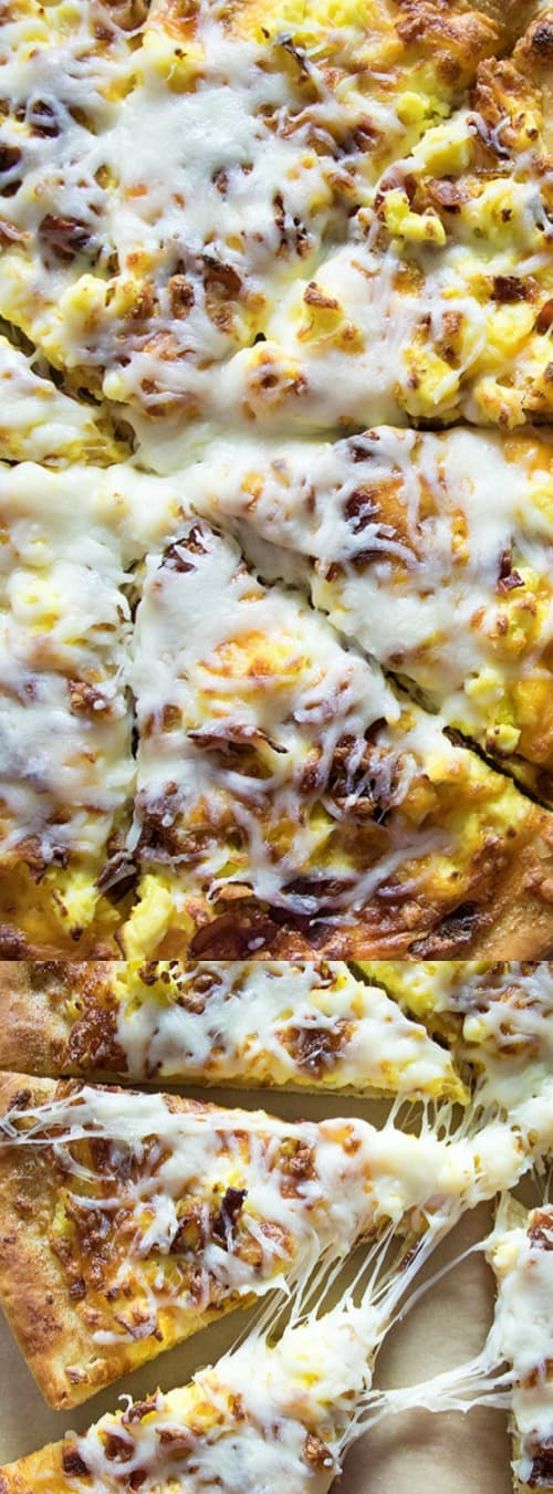Breakfast Pizza with Easy Miracle Pizza Dough Longpin