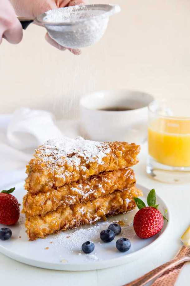 Cornflake Crusted French Toast--Part of The Best French Toast Recipes