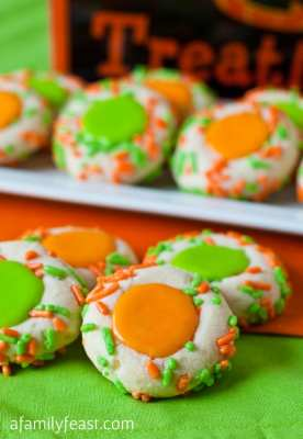 Halloween Thumbprint Cookies