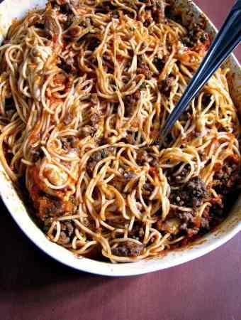 Leftover Spaghetti Casserole