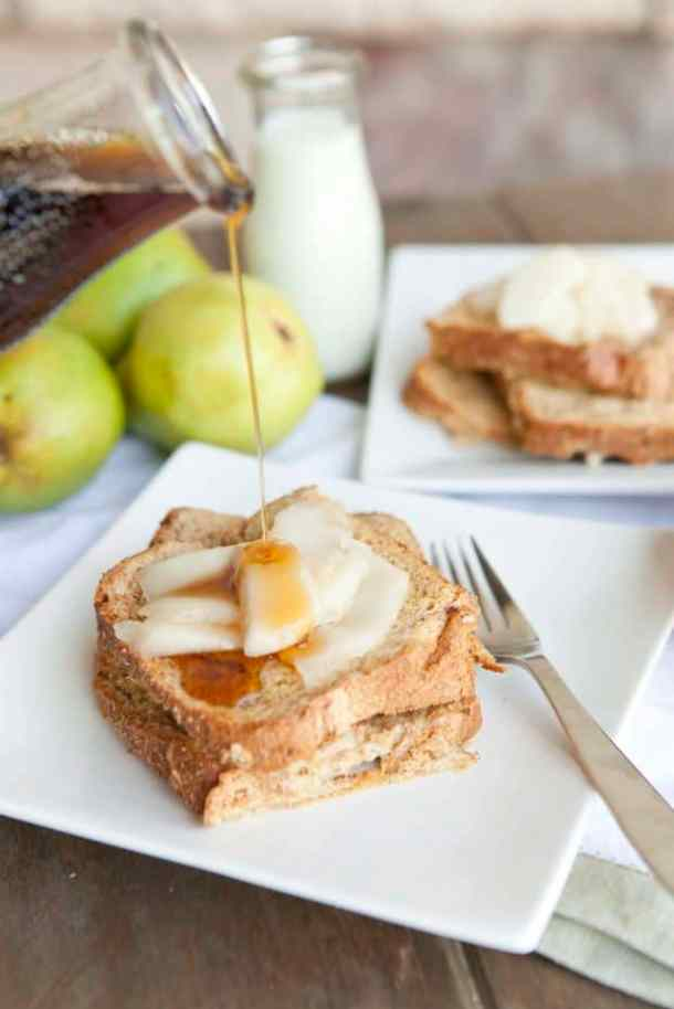 Make-Ahead Warm Pears & Baked French Toast--Part of The Best French Toast Recipes