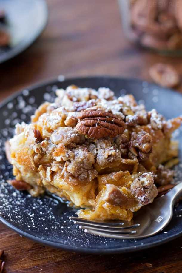 Overnight Pumpkin French Toast Bake--Part of The Best French Toast Recipes