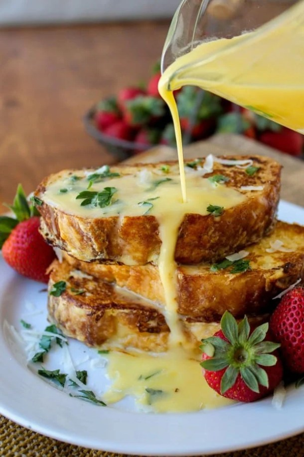 Savory Parmesan French Toast with Hollandaise Sauce--Part of The Best French Toast Recipes