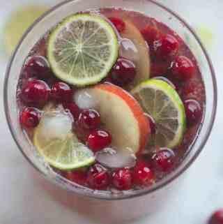 Sparkling Cranberry Apple Punch