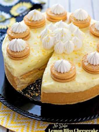 No Bake Lemon Bliss Cheesecake