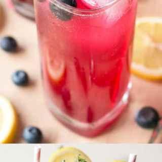 Sparkling Blueberry Thyme Vodka Lemonade