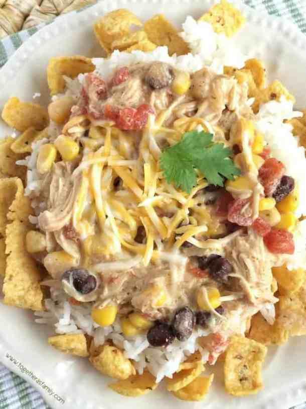 CHICKEN MEXICAN HAYSTACKS--part of 20+ Easy Weeknight Mexican Chicken Dinner Recipes