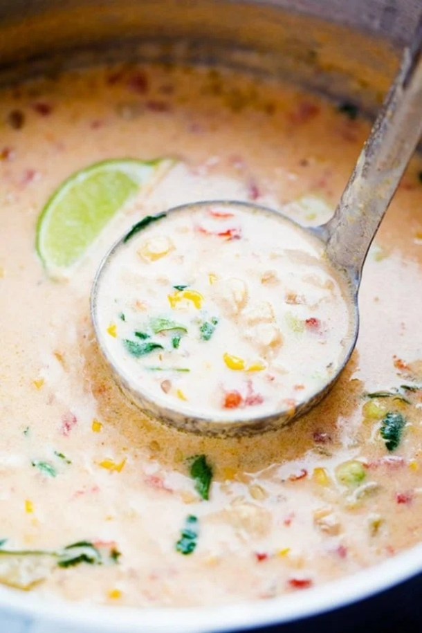 MEXICAN CHICKEN CORN CHOWDER--part of 20+ Easy Weeknight Mexican Chicken Dinner Recipes