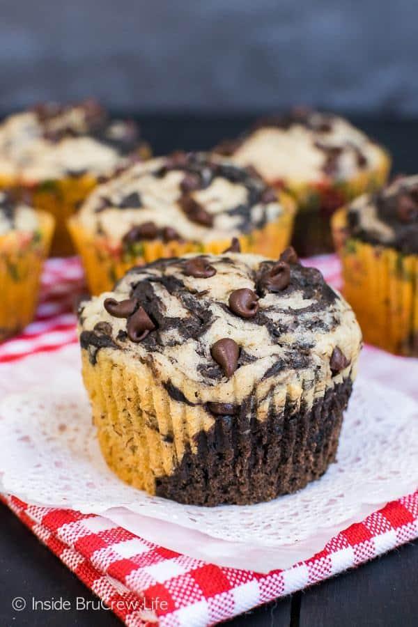 Chocolate Banana Marble Muffins Recipe