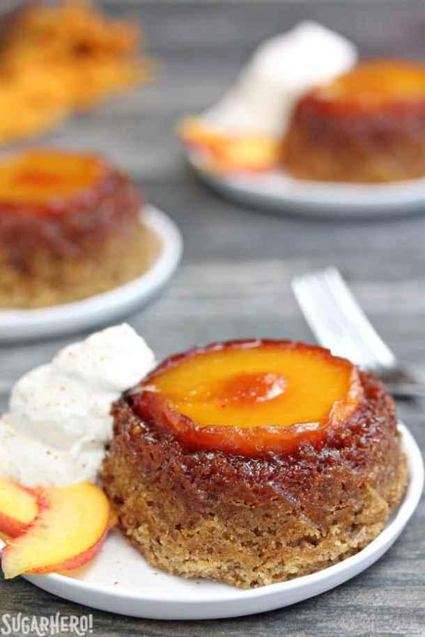 Peach Upside-Down Cakes Recipe