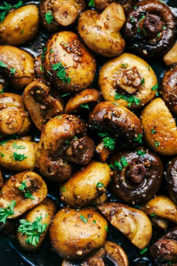 Honey Balsamic Garlic Mushrooms Recipe