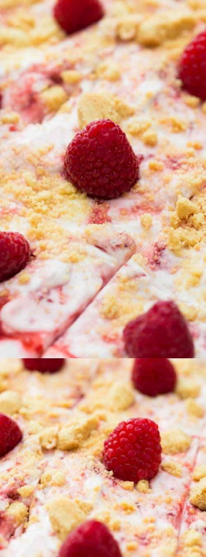 Raspberry Fool Sheet Cake