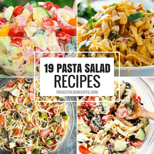 19+ PASTA SALADS TO BRING SUMMER BACK INTO YOUR LIFE!