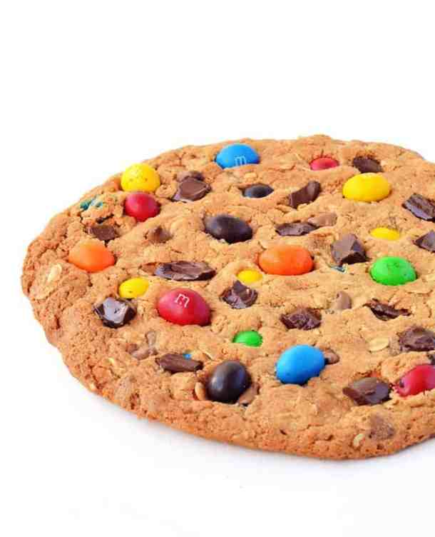 One Giant M&M Monster Cookie-- Part of M&M Monster Dessert Recipes that your kids will love!