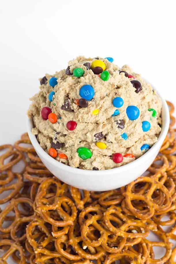 Monster Cookie Dough Dip (Re-link)-- Part of M&M Monster Dessert Recipes that your kids will love!
