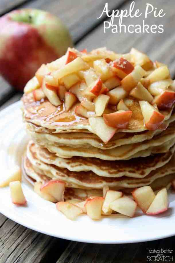 Apple Pie Pancakes-- Part of THE BEST PANCAKE RECIPES