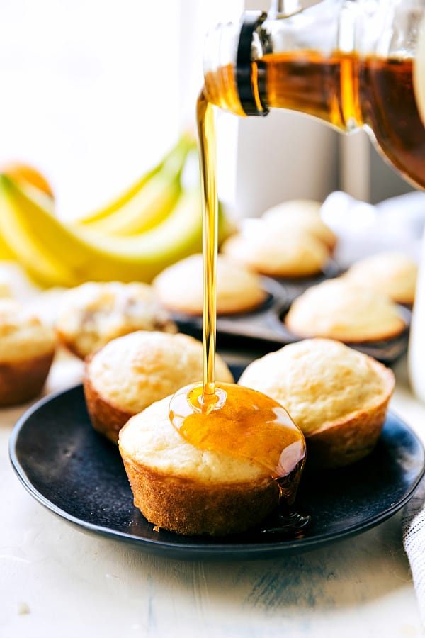 """Sausage Pancake Muffinsare perfectly moist and tender pancake muffins filled with sausage and drizzled in maple syrupcreating the perfect on the go breakfast!  <div class=""""su-divider su-divider-style-default"""" style=""""margin:15px 0;border-width:0px;border-color:""""#000000""""""""></div>"""