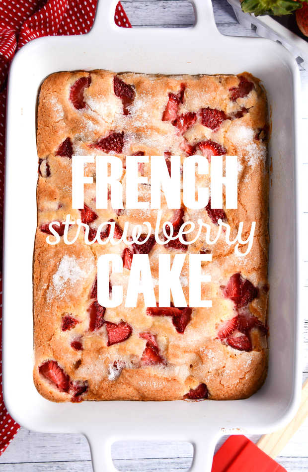 FRENCH STRAWBERRY CAKE FEATURED