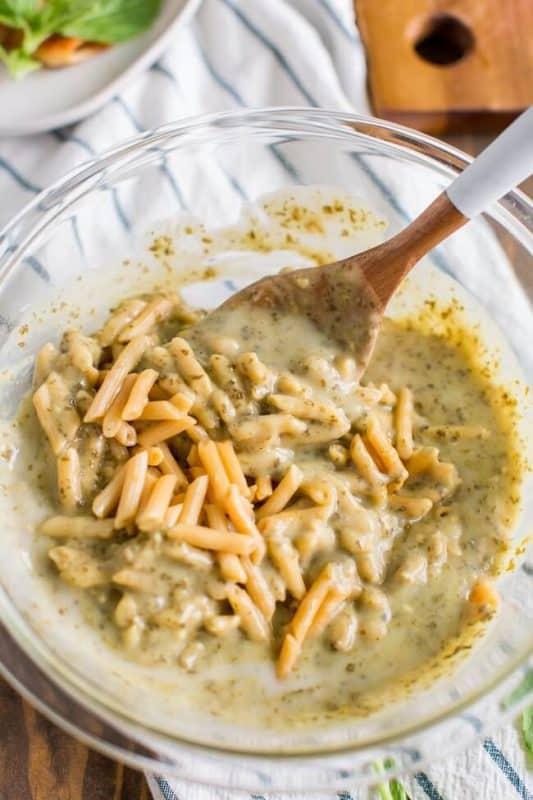 Pesto Cream Sauce with Pasta