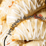 easy peach hand pies with special almond drizzle