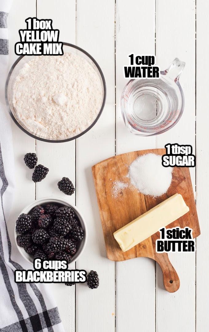 Blackberry Cobbler Ingredients