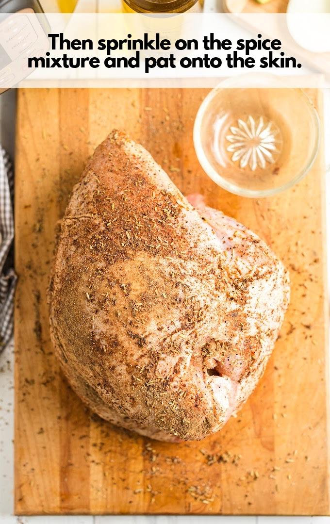 sprinkle spice over turkey breast