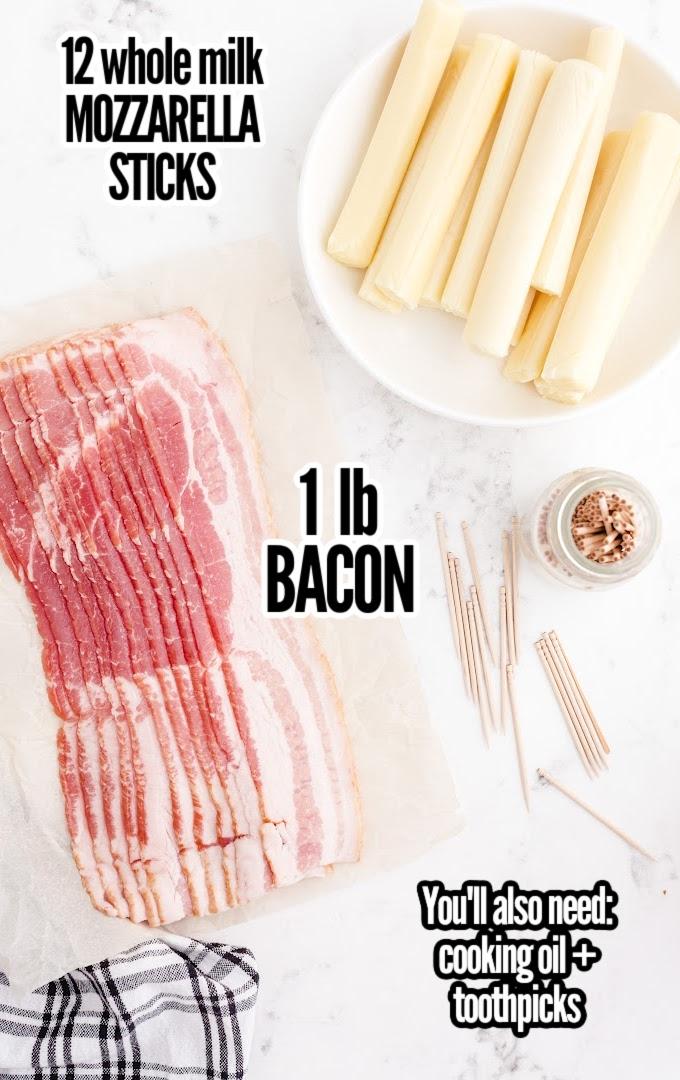 Bacon Wrapped Mozzarella Sticks