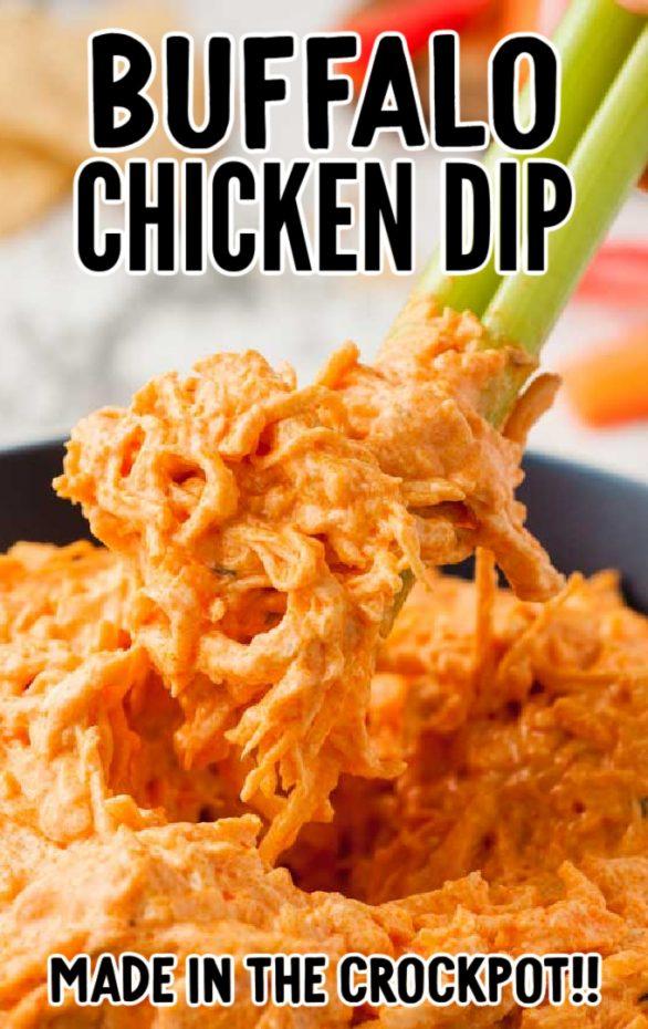 Crockpot Buffalo Chicken Dip