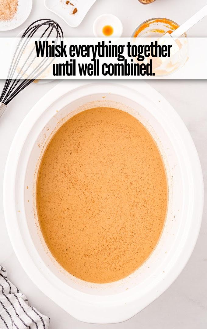 Slow Cooker Pumpkin Spice Latte whisk together
