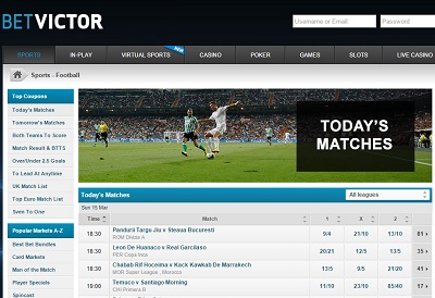 Bet Victor football betting