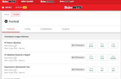 sun bets football site