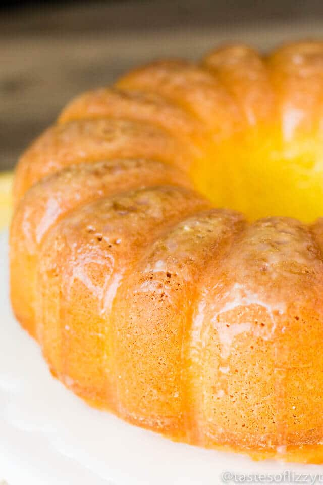 Lemon Bundt Cake With Lemon Glaze Easy Recipe Made With Jello
